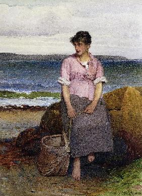 Ein junges Fischerm�dchen am Meer (A Young Fishergirl by the Sea)