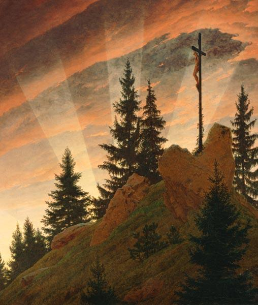 The cross in the mountains (part -- Teschner altar) 1807-08