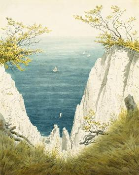 Chalk cliff on Ruegen 1825/26