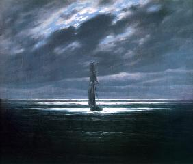 Seascape at moonlight um 1827