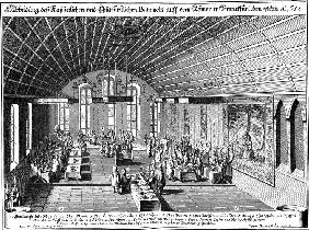 Banquet in the Römer in Frankfurt a.M. on August 1, 1658 in celebration of Emperor Leopold I