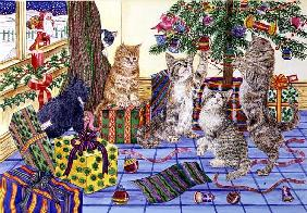 The Cats'' Christmas (w/c on paper)