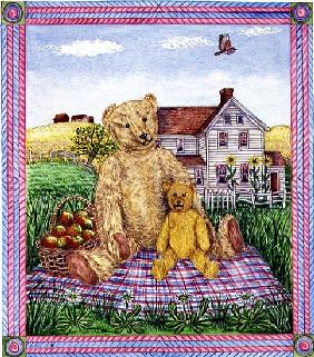 The Teddy Bears'' Picnic (w/c on paper)