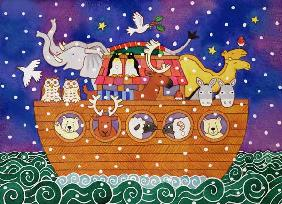 Christmas Ark, 1999 (w/c and pastel on paper)