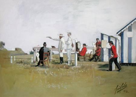 The Pistol Range Bisley Camp Cecil Cutler As Art Print