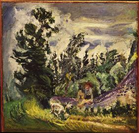 Landscape with little girl