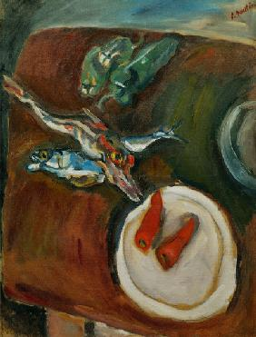 Still-life with fish, peppe