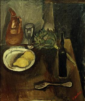 Still life with artichoke
