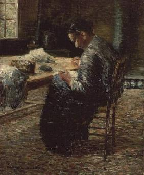 Portrait of the Artist's Mother Sewing