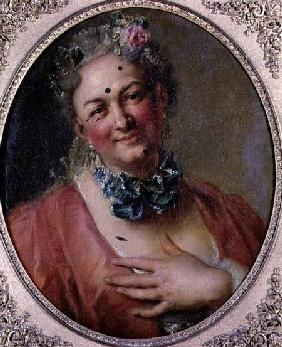 Portrait of the Singer Pierre de Jelyotte (1713-97) in Female Costume