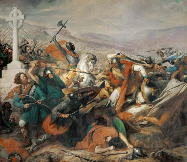Steuben, Charles Auguste : The Battle of Poitiers, 25...