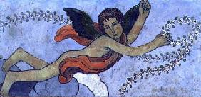 The Guardian Angel with a Garland