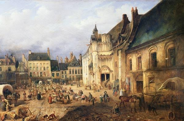 View of the Place de l'Hotel de Ville, Saint-Omer