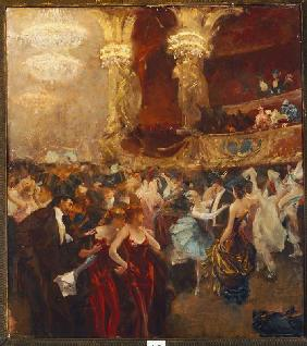 Hermans, Charles : Masked ball in the opera