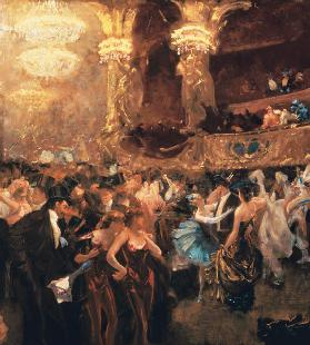 Masked ball in the opera