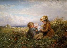 Lewis, Charles James : Children in a Field