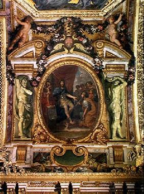 Patronage of the Arts in 1663, Ceiling Painting from the Galerie des Glaces