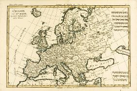 Europe, from 'Atlas de Toutes les Parties Connues du Globe Terrestre' by Guillaume Raynal (1713-96)