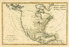 North America, from 'Atlas de Toutes les Parties Connues du Globe Terrestre' by Guillaume Raynal (17