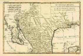 Northern Mexico, from 'Atlas de Toutes les Parties Connues du Globe Terrestre' by Guillaume Raynal (