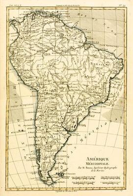 South America, from 'Atlas de Toutes les Parties Connues du Globe Terrestre' by Guillaume Raynal (17