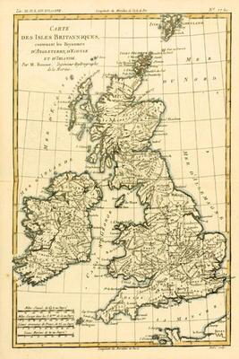 The British Isles, Including the Kingdoms of England, Scotland and Ireland, from 'Atlas de Toutes le