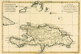 The French and Spanish Colony of the Island of St Dominic of the Greater Antilles, from 'Atlas de To