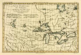 Western Canada, including the Five Great Lakes, from 'Atlas de Toutes les Parties Connues du Globe T