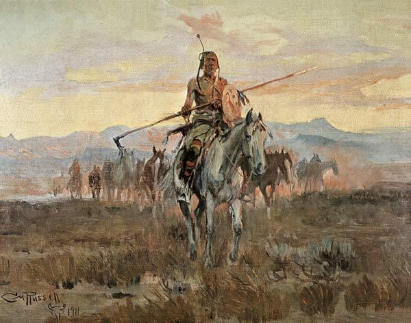 Stolen Horses, 1911 (oil on canvas)