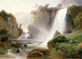 R�mond, Charles : The waterfalls of Tivoli.