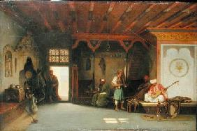 Interior of an Oriental Cafe