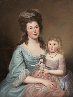 Peggy Sanderson Hughes and her Daughter