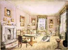 Drawing Room, East Wood, Hay, f.54 from an 'Album of Interiors'