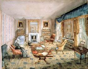 The Drawing Room, White Barnes, f.55 from an 'Album of Interiors'