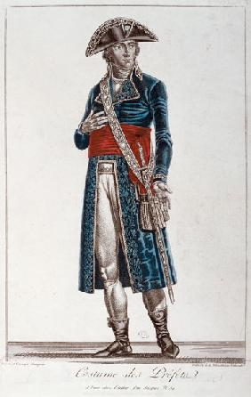 Costume of a Prefect during the period of the Consulate (1799-1804) of the First Republic, c.1800 (c