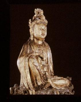 Figure of a bodhisattva, Yuan or Ming dynasty