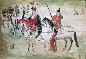 Two Horsemen in a Landscape or, The Boddhisatva and his Equerry, Tang Period