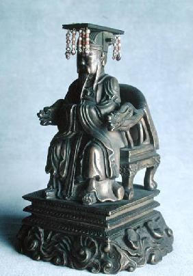 Statuette of Confucius (551-479 BC) as a Mandarin, Qing Dynasty