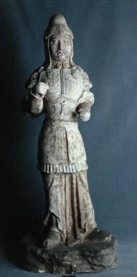 Statuette of a warrior, Tang Dynasty