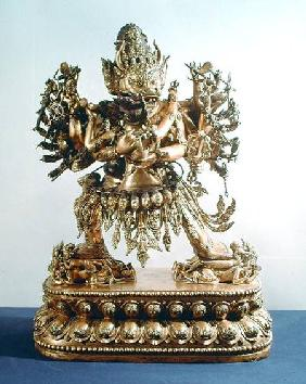Vajrabhairava, aspect of Yamantaka, the guardian of the law, Qing Dynasty
