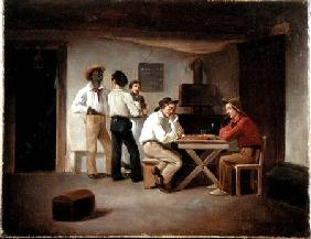 Sailors Playing a Board Game in a Tavern