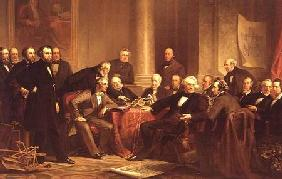 Christian Schussele - Men of Progress: group portrait of the great American inventors of the Victorian Age