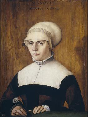 The wife of Jörg Zörer, at the age of 28