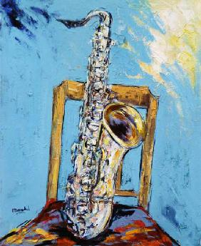 Saxophone with chair