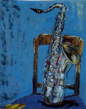 Saxophone with chair II