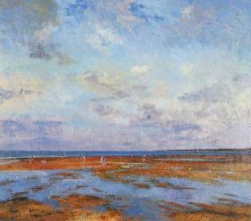 Brittany Beach (oil on canvas)