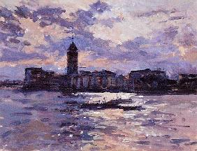 Chelsea Harbour (oil on canvas)
