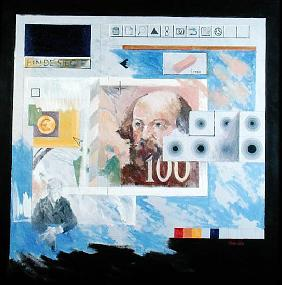 Fin de Siecle Cezanne and The Euro, 1999 (oil on canvas)