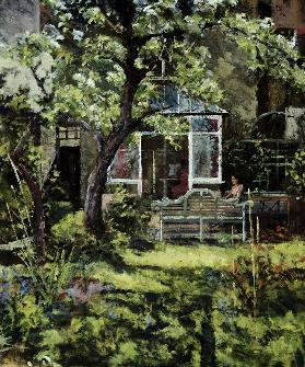 The Lutyens Bench, 2002 (oil on canvas)