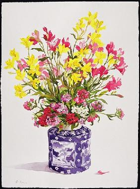 Flowers in a Chinese Jar (w/c)